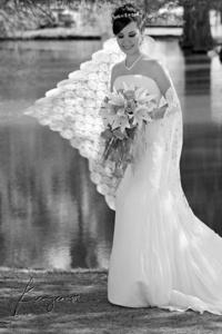 Melisa González Escajeda captada el día de su boda con José Agustín Tovar Flores. <p> <i>Benjamín Fotografía</i>