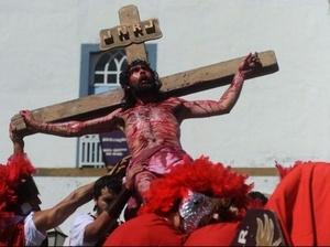 BRASIL. Pasión de Cristo en la ciudad de Pirenópolis.