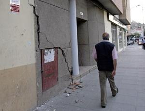 Diversos edificios se vieron afectados por el gran terremoto de 5.2 grados.