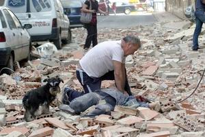 Al menos diez personas murieron a consecuencia del derrumbe de edificios causado por un terremoto que sacudió  la localidad española de Lorca.