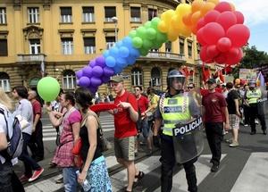 La marcha se desarrolló sin ningún tipo de incidentes, a pesar de las amenazas de grupos ultraderechistas.