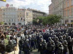 La policía húngara tuvo que emplear gas lacrimógeno contra unos 300 radicales de extrema derecha que intentaron boicotear el desfile del orgullo gay en Budapest.