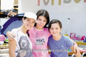 María Ángel Peña, Doris Morales y Marion Arriaga.