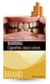 Cadáveres, pulmones enfermos y bocas infectadas son algunas de las imágenes que encontrarán quienes compren una cajetilla de tabaco en EE.UU. a partir de octubre de 2012, informó hoy la Administración de Alimentos y Medicamentos (FDA).