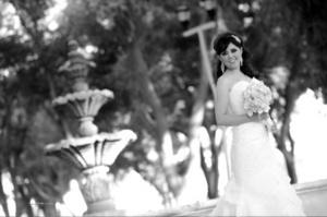 Srita. Sugey Aleida Tovar Soria el día que unió su vida a la del Sr. Carlos Daniel Arenas Moreno. <p> <i>Maqueda Fotografía</i>