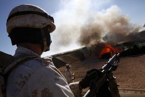 La quema de la marihuana hallada en 120 hectáreas de Ensenada, Baja California, podría prolongarse durante un mes.