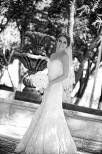 Estefanía Carreón Valdemar unió su vida en matrimonio a la de Mario Valdés Lugo. <p> <i>Maqueda Fotografía</i>