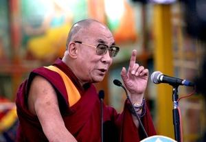La ceremonia fue retransmitida en directo en la web del dalai lama.
