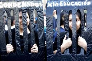 Decenas de miles de estudiantes volvieron a protestar contra el gobierno y marcharon en esta capital y ciudades del interior para demandar cambios en la educación del país.