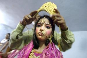 Eb el Festival Janamashtmi se celebra el aniversario del nacimiento del dios Lord Krishna.