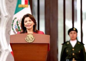 Es un momento en donde el narcotráfico y el crimen organizado han decidido tener una fortísima arremetida sobre la región de Mesoamérica, dijo la presidenta.