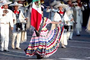 La banda Jaguares de la Tamayo y la compañía de danza Tenochtitlán de México ensayaron para el  Festival Internacional Militar de Música 'Spasskaya Tower'.
