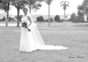 Arriaga Macías el día que unió su vida en sagrado matrimonio con el Lic. Rolando Ismael Noyola Cosío. <p> <i>Gustavo Borroel Fotografía</i>