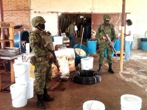 Personal militar aseguró el laboratorio clandestino más grande de la jurisdicción de la V Región Militar.