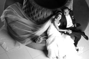 El día de su boda Brenda Robledo Hernández y Octavio García Aguilar. <p> <i> Nancy López Fotografía</i>