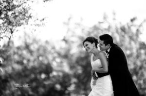 El día de su boda Eloísa Virginia Valdez Guerrero y Roberto Flores Zamudio. <p> <i> David Lack Fotografía</i>