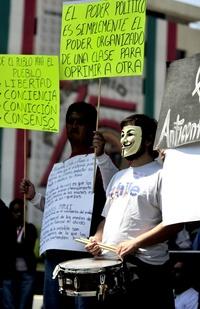 Otras marchas o actos de protesta se celebraron en ciudades como Guadalajara, Distrito Federal, Tijuana, Ciudad Juárez, Querétaro y Puebla, a fin de despertar la conciencia de los mexicanos para pedir y reclamar una mejor repartición de la riqueza.