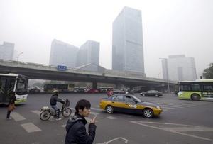 La contaminación del aire en Pekín se ha vuelto insoportable en los últimos días.