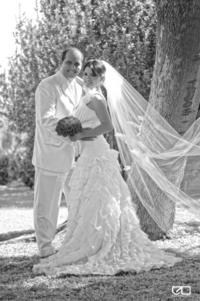 Srita. Pamela García Orona y Sr. Manuel Sdir Moreno el día de su enlace nupcial.   Edmundo Isaís Fotografía