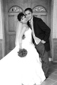 Srita. Rosales Cruz y Sr. J. Iván García Ochoa, el día de su enlace nupcial.
