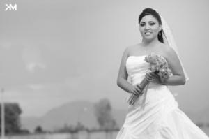 Srita. Norma Patricia Cuéllar Herrero, el día de su enlace nupcial.-   Studio KM