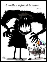Fotografía donde se aprecia una caricatura de Gary Javier, que forma parte de unas 50 obras de 25 dibujantes que la Asociación de Caricaturistas de Puerto Rico exhibirá.
