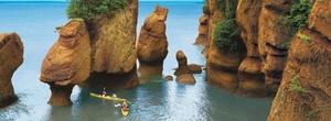 La bahía de Fundy es un brazo de mar situado en la costa atlántica de Canadá, en el extremo norte del golfo de Maine, entre las provincias canadienses de Nuevo Brunswick y Nueva Escocia. Tiene 270 km de longitud y una anchura media de 80 km.