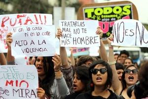 En algunas de las pancartas que portaban los manifestantes también se podía leer: Este cuerpo es mío: No se toca, no se viola, no se mata; No soy una vagina caminante, exijo respeto; Ni putas ni santas, sólo mujeres; Soy mucha mujer y no tolero el abuso sexual; Hombre que se respeta no golpea ni mata.
