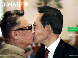 Los dirigentes de Corea del Norte y Corea del Sur, Kim Jong-il, y Lee Myung-bak.