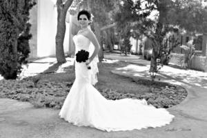 Srita. Jennifer Flores Rodríguez el día de su boda con el Sr. José Francisco Cano Berrón. <p> <i>Gustavo Borroel Fotografía</i>