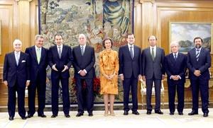 A la cereminua asistió el presidente saliente José Luis Rodríguez Zapatero y algunos miembros de su gabinete.