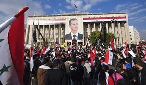 Protesta contra el régimen sirio