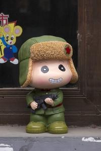 Muñeco de una de las imágenes de los iconos revolucionarios forma parte de la temática del arte pop.