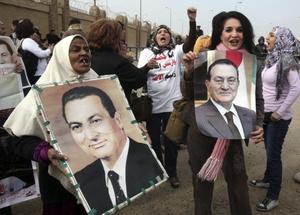 El expresidente egipcio también fue apoyado por sus simpatizantes.