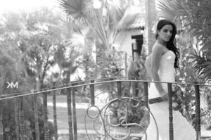 SRITA.  Daniela Dávila el día de su enlace nupcial con el Sr. Juan José Villarreal. <p> <i>  Studio KM</i>