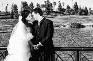 SRITA.  Ariana Cabral López y Sr. Roberto García Leal el día de su enlace matrimonial. <p> <i>  Maqueda Fotografía</i>
