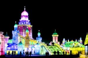 El festival de Harbin, se realiza en el extremo norte de China.