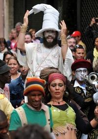 Los magos también se hicieron presentes en el tradicional Cabildo del Día de Reyes.