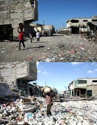 Un terremoto de siete grados en la escala de Richter estremeció la capital, Puerto Príncipe, y varias ciudades aledañas con una devastadora sacudida que dejó algo más de 300 mil muertos.