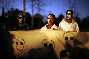 Los manifestantes piden respeto hacia los inmigrantes etíopes.