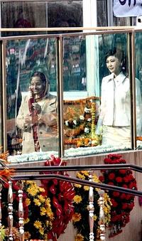 La presidenta india, Pratibha Devisingh Patil, asistió a las celebraciones del Día de la República junto a la primera ministra de Tailandia, Yingluck Shinawatra en Nueva Delhi.