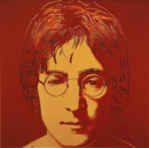 Vista de una litografía del músico británico John Lennon realizada por el artista estadounidense Andy Warhol.