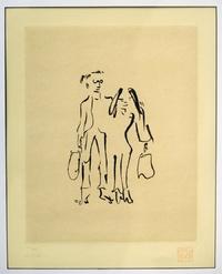 Bag One uno de los dibujos del músico británico John Lennon donde la acompaña Yoko Ono.