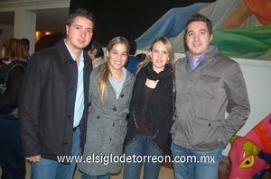 02022012 DAVID  y Michelle Madero, Patricia Pérez Gavilán y Alberto Sarabia.