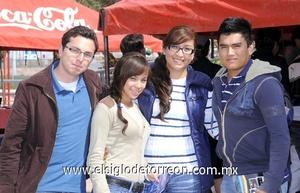 11022012 GERARDO  Lozano, Vania Camarena, Violeta Zugasti y Carlos Arturo Molina.