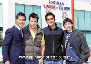 11022012 MARIO  Favela, Ricardo Castil, Josué Emanuel Meza y Diego Rojas.