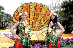 Entre las actividades de la feria se encuentra el desfile de carrozas iluminadas y el espectáculo de fuegos artificiales sobre la Bahía de Bastión.