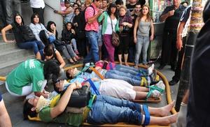 Se estima que 600 personas resultaron heridas.