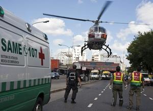 Algunos heridos de gravedad fueron trasladados en helicóptero.