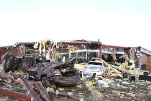 Alrededor de 60 casas en Moscow han resultado dañadas, algunas de las cuales sólo han quedado sus cimientos.